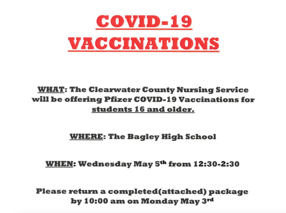 Clearwater County Nursing Service Offering COVID Vaccinations