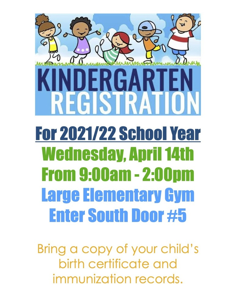 Kindergarten Registration for 2021/22