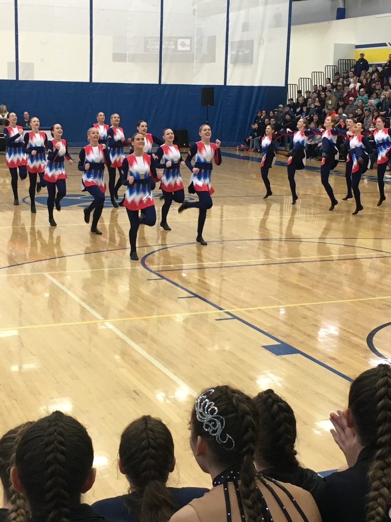 The kick team in action at the Section 4A competition.