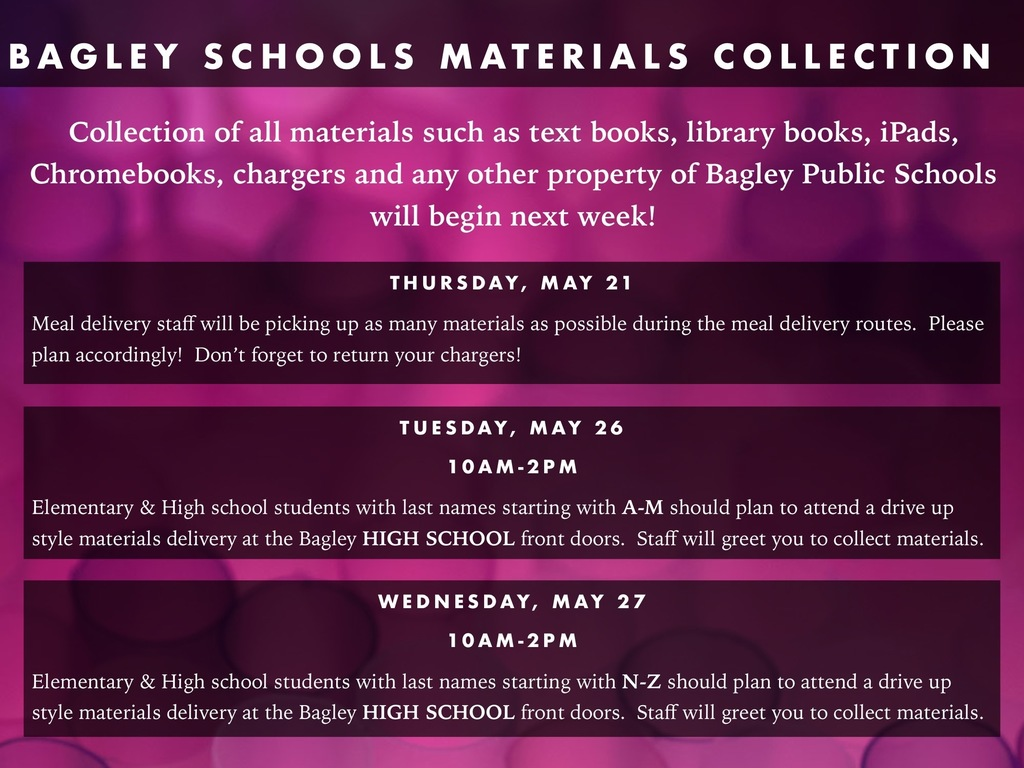 Materials Collection Information Poster
